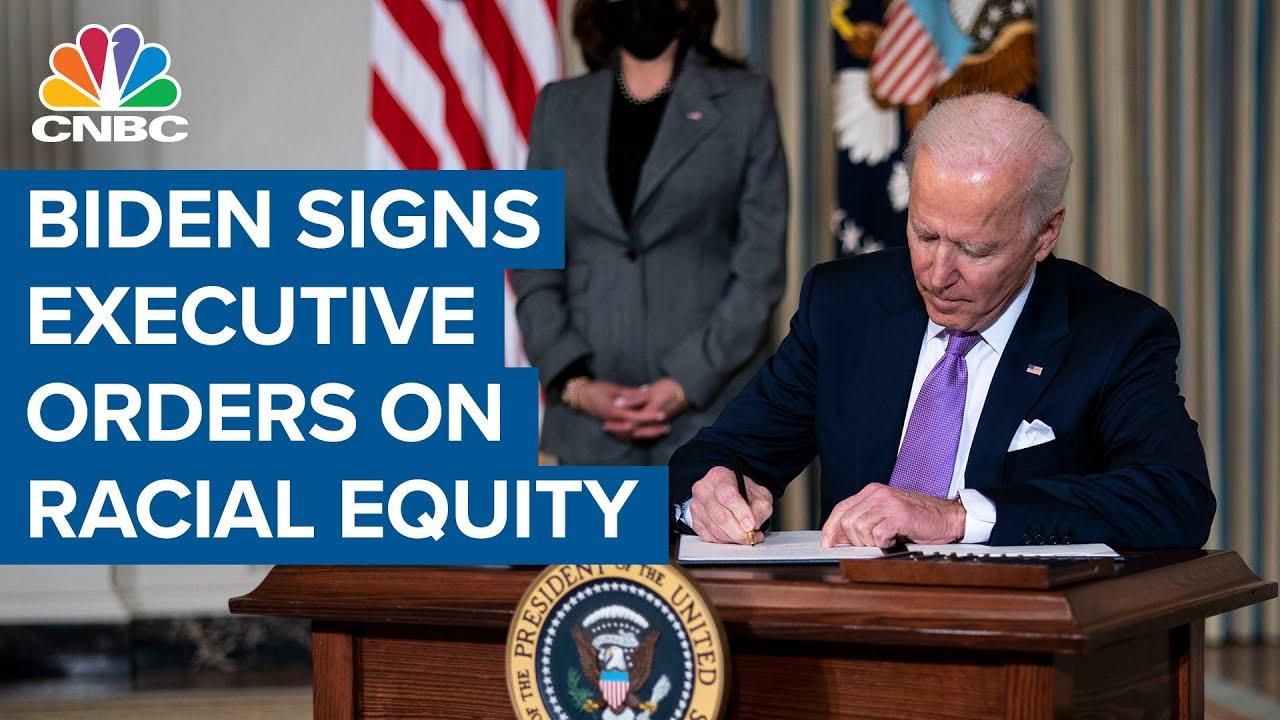 Download President Joe Biden signs executive orders on racial equity