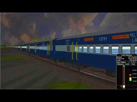 Dibrugarh Bangalore city Express From Guwahati || IR In MSTS Open Rail