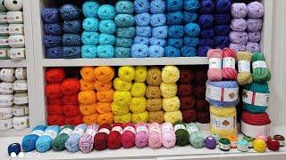 جولة فى شركة برايت للخيوط #yarn خيوط قطن مصرية والوان ثابته ونص سعر الخيط التركى #يوميات_ عليتنا