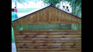 Wood Dog Cage
