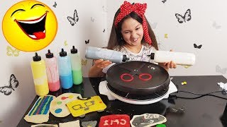 PANCAKE-FOURNITURES SCOLAIRES CHALLENGE! CA TOURNE MAL!? (((