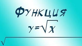 Функция квадратного корня y=√(x)