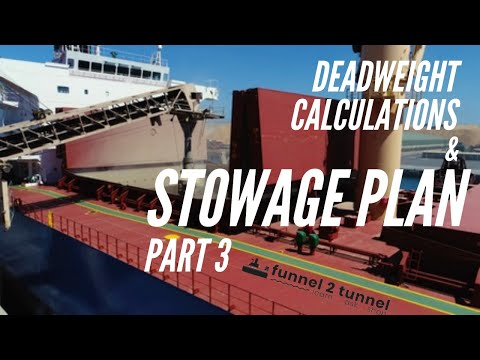 Deadweight Calculation and Stowage Plan   Bulk Carriers   Part 3   Simple explanation