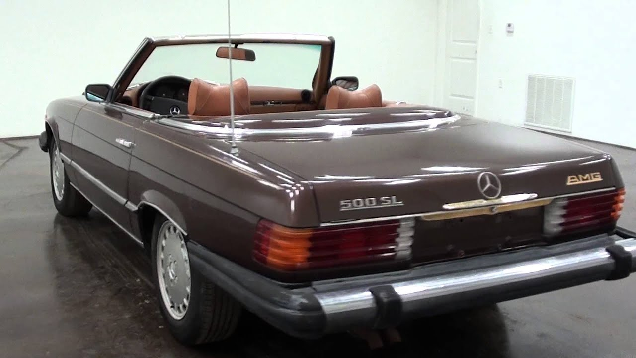 1974 mercedes benz 500 sl convertible youtube. Black Bedroom Furniture Sets. Home Design Ideas
