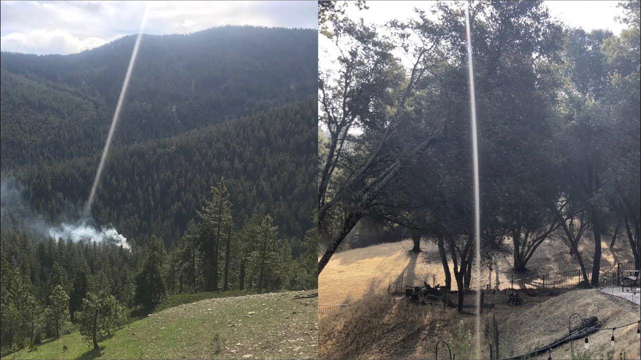 Explained: DEW Energy Beam Starting Forest Fires - Dirty Lens, Light Streak  | Metabunk
