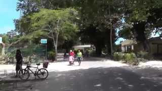 Seychelles, La Digue, La Passe sightseeing by bicycle summer 2014