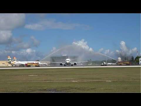 RETIREMENT FLIGHT! Cayman Airways Boeing 737-300 VP-CKY LAST DEPARTURE & FLY BY