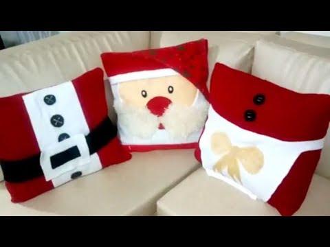 Como decorar cojines de navidad decoraci n f cil de un - Cojines para sillones de terraza ...