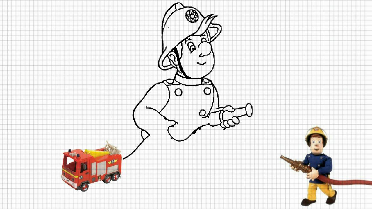 Fireman Sam How To Draw Fireman Sam Video Youtube