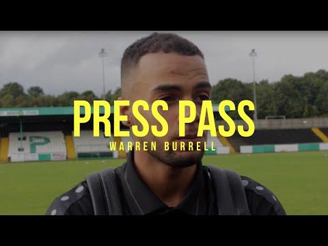 PRESS PASS | Warren Burrell Post Bradford Park Avenue