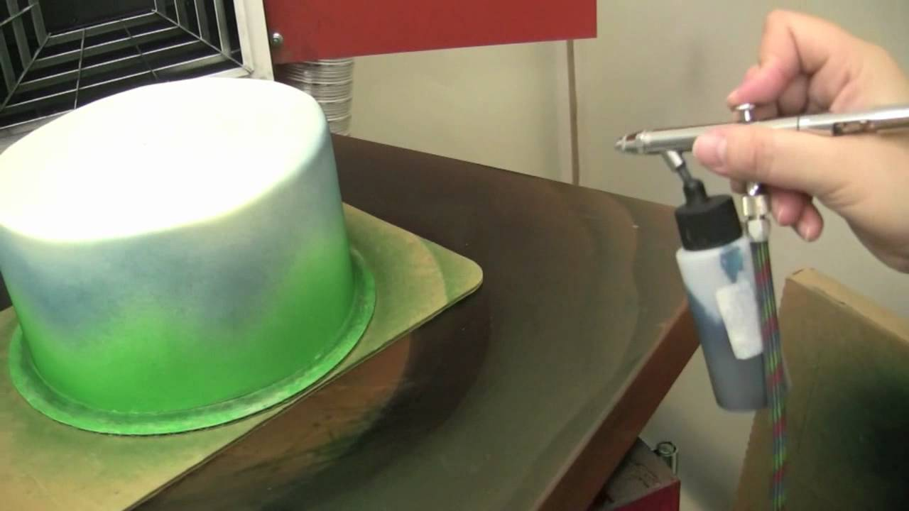 How To Airbrush A Cake The Krazy Kool Cakes Way