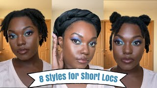 HOW TO: 8 Loc And Wrap Styles On Short Starter Locs | Naomi Onlae