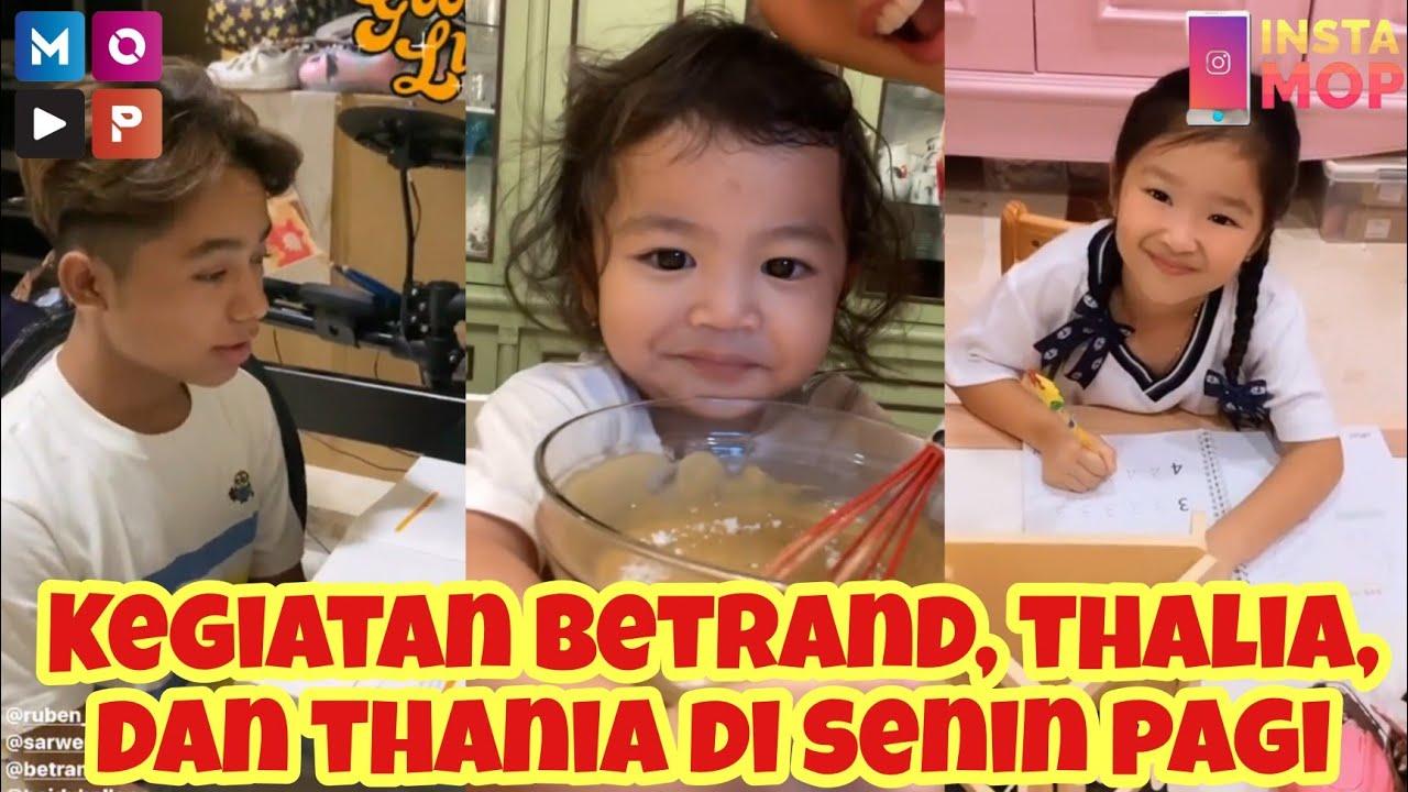 INSTAMOP | Kegiatan Betrand, Thalia, dan Thania di Senin Pagi