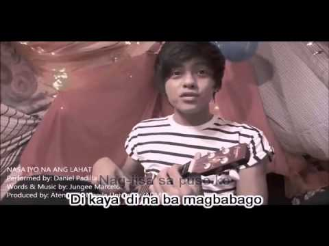 Daniel Padilla - Nasa Iyo Na Ang Lahat (Karaoke)