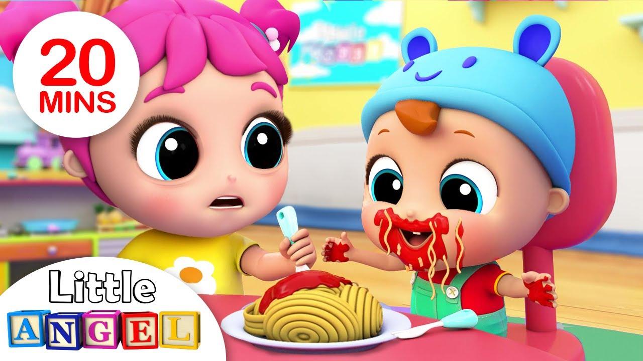 Yum Yum, Baby Loves Spaghetti | Nursery Rhymes & Kids Songs- Little Angel