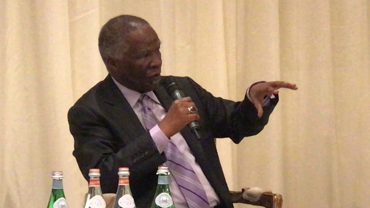 Former President Thabo  Mbeki speaks on xenophobia at the 14th  Aprm Day