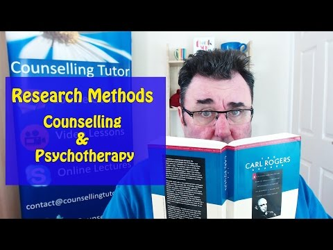 Research Methods in Counselling and Psychotherapy