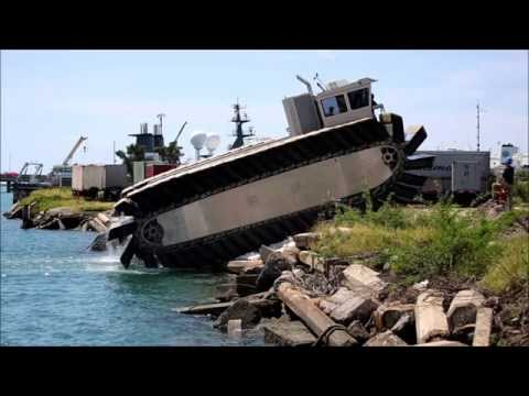 US Marines Experimental Amphibious Vehicle Ultra HeavyLift Amphibious Connector UHAC [HD]