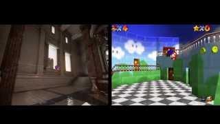 Mario avec  le moteur graphique Unreal Engine 4