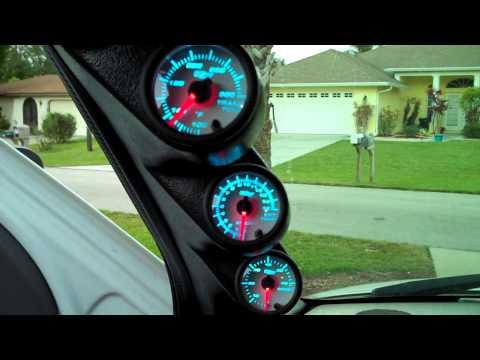 GlowShift Guage pod Dodge 2500 5.9 Cummins Diesel - YouTube