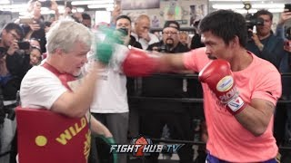 manny-pacquiao-s-full-media-workout-for-his-adrien-broner-fight