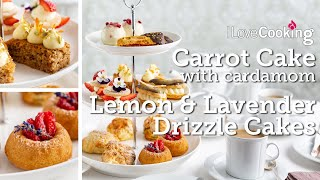 Afternoon Tea Cakes with Chef Shane Smith | Carrot & Cardamom Cake | Lemon & Lavender Drizzle Cakes