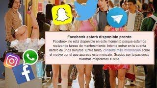 La caida de Facebook a nivel MUNDIAL