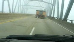 Ohio - Indiana Autumn Fog with Oversize load  10 20 09