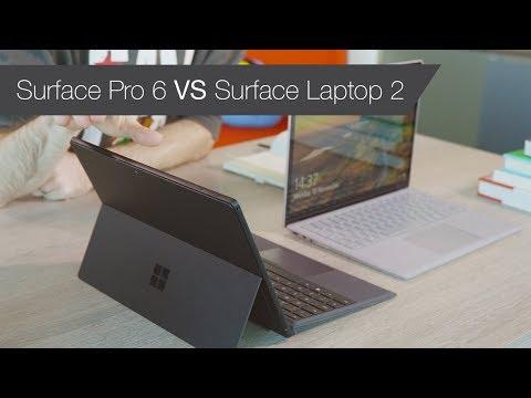 Surface Pro 6 vs Surface Laptop 2