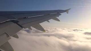 Swiss A321 - Turbulence Inflight from Zurich to Barcelona Takeoff