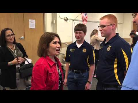 Illinois Lieutenant Governor Visits Richland County High School