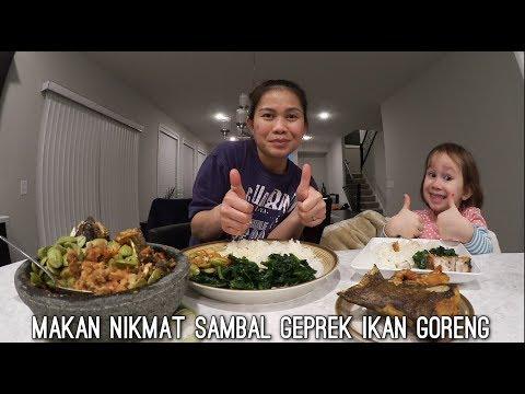 MASAK & MAKAN IKAN GORENG GEPREK SAMBAL TERASI PETE ENAK BANGET!