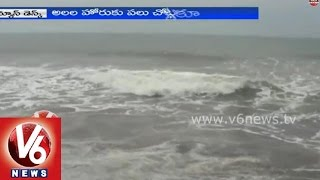 Bay of Bengal swells in Visakhapatnam with massive waves