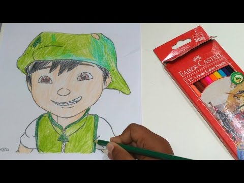 Mewarnai Boboiboy Part 5 Boboiboy Galaxy Daun Youtube