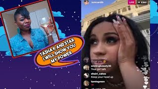 Cardi B Goes off on Tasha K about the Lawsuit she filed against her