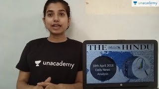 The Hindu Newspaper Analysis 18 April 2018 - Daily News Analysis DNA by Pooja Mishra