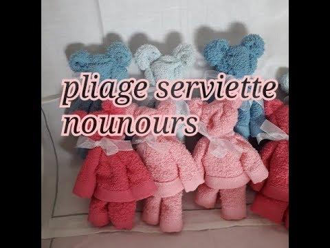 Pliage Serviette Nounours