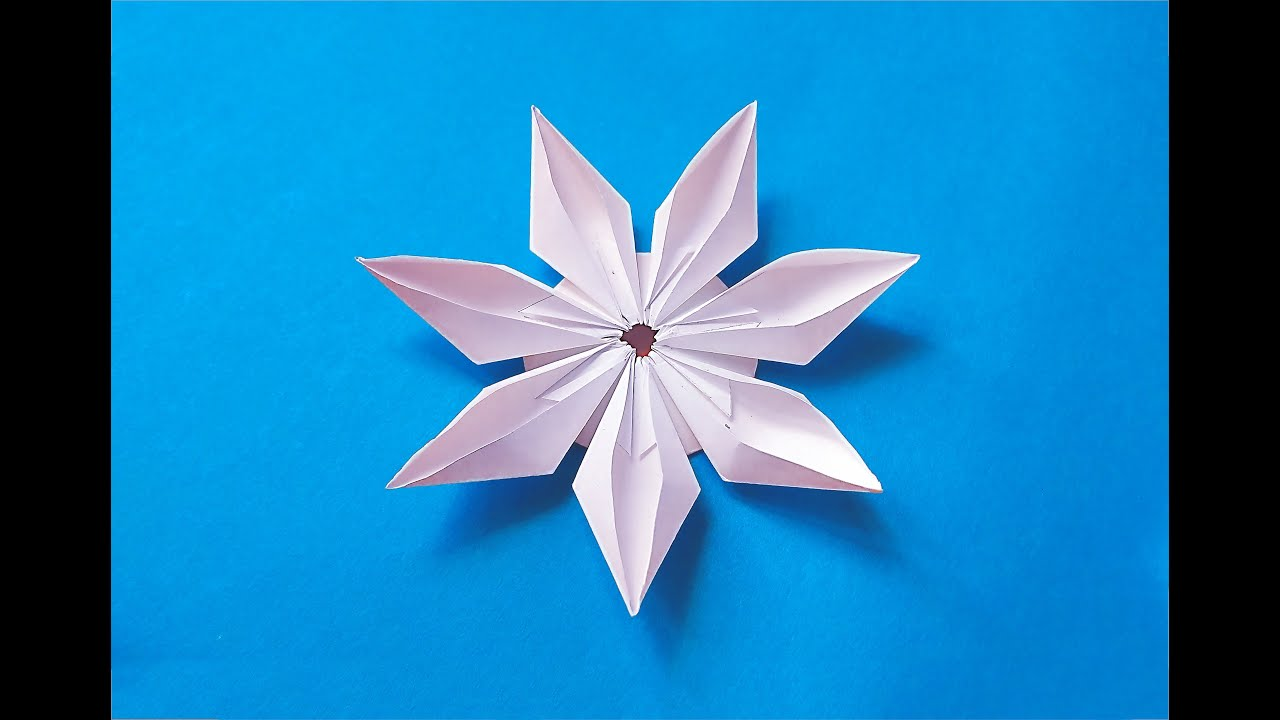 Easy origami modular flower ideas for decoration youtube for Decoration origami