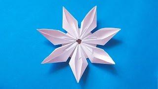 Easy origami modular flower. Ideas for decoration