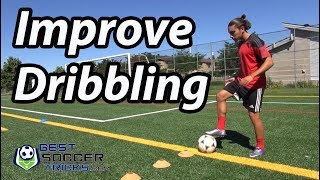 1 Simple Exercise to Improve Dribbling - Soccer Tips