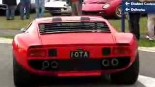 Lamborghini Miura Jota (Replica) Revving