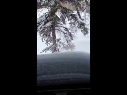 Snow storm, Winnipeg. St John's Residence