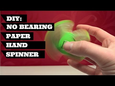 DIY Fidget Spinner Without A Bearing   Easy To Make Fidget Spinner Without A Bearing