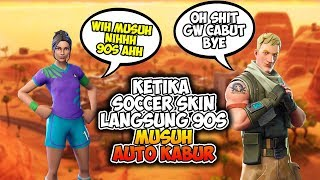 When Soccer Skin meet the enemy Abis's direct 90s enemy Auto hazy Fortnite Indonesia