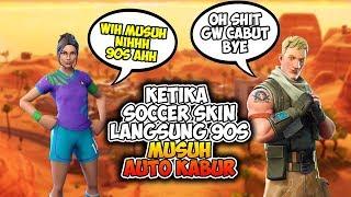 Lorsque Soccer Skin répondre à l'ennemi Abis direct des années 90 ennemi Auto brumeux Fortnite Indonésie