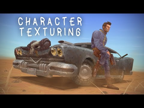 Fallout 2 Game art tutorial / commentary - 06 Character texturing (handpainted texture) thumbnail