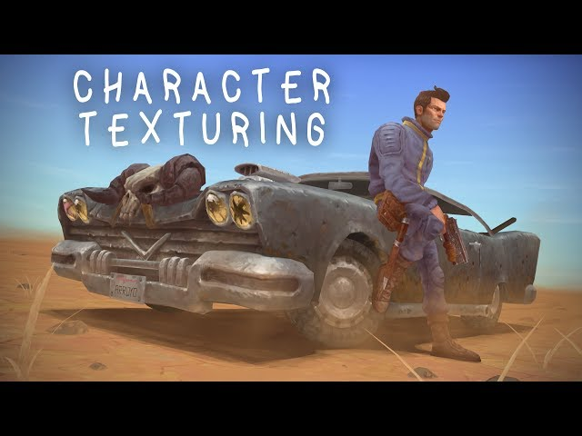 Fallout 2 Game art tutorial / commentary - 06 Character texturing (handpainted texture)
