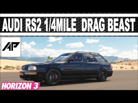 Forza Horizon 3 / Audi RS2 Avant 1\4Mile Drag Tune / Perfect Launch