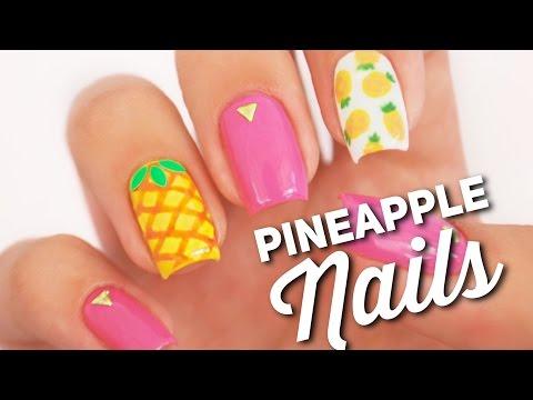 Pineapple Nail Art Design | Fruit Manicure