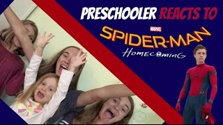 Spiderman: Homecoming Trailer #2 Reaction! (With a PRESCHOOLER!)